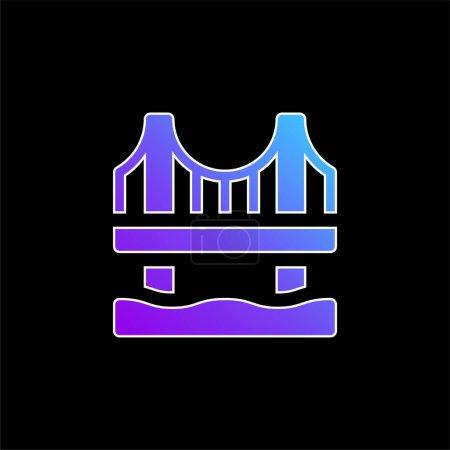 Photo pour Pont bleu dégradé vecteur icône - image libre de droit