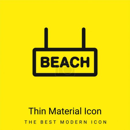 Photo for Beach Signal minimal bright yellow material icon - Royalty Free Image