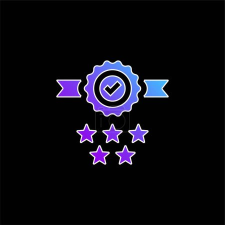 Illustration for Badge blue gradient vector icon - Royalty Free Image