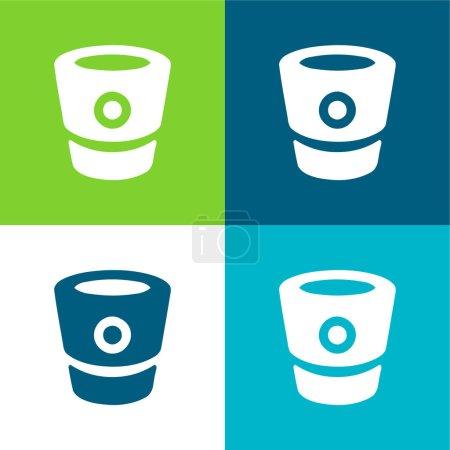 Bitbucket Logo Flat four color minimal icon set