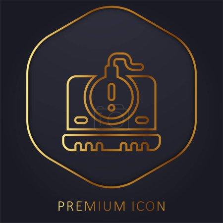 Illustration pour Bombe ligne d'or logo premium ou icône - image libre de droit