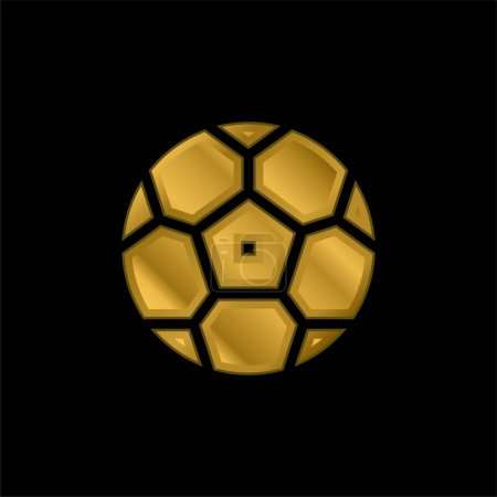 Illustration for Ball gold plated metalic icon or logo vector - Royalty Free Image