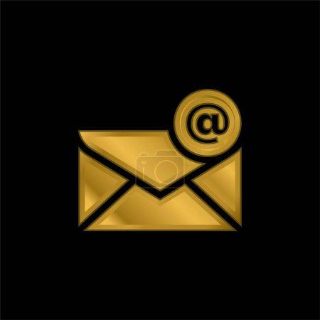 Illustration pour Au signe plaqué or icône métallique ou logo vecteur - image libre de droit