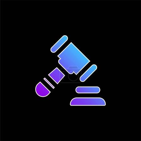Photo pour Ventes aux enchères icône vectorielle dégradé bleu - image libre de droit