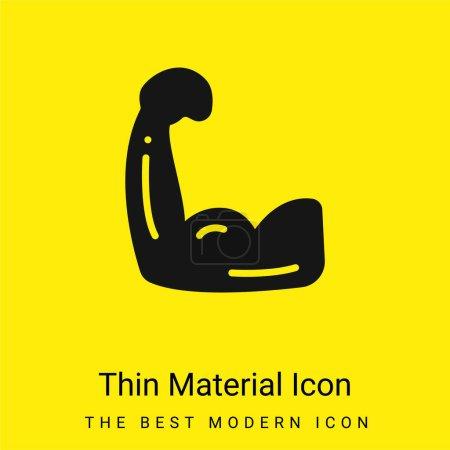 Photo pour Biceps minimale icône de matériau jaune vif - image libre de droit