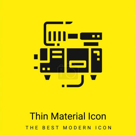 Illustration for Air Pump minimal bright yellow material icon - Royalty Free Image