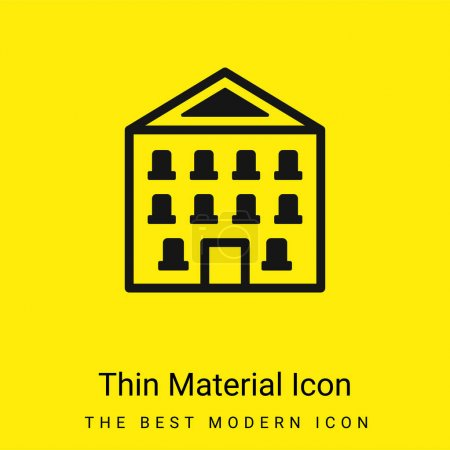 Illustration for Appartment minimal bright yellow material icon - Royalty Free Image