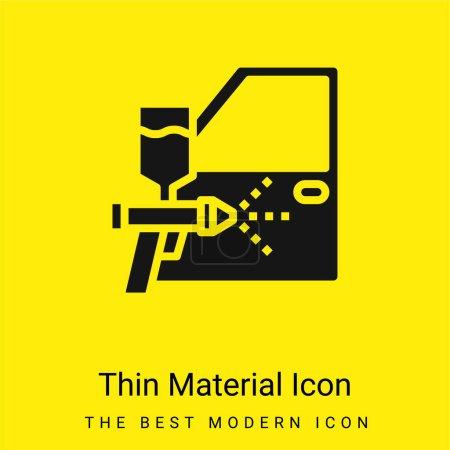 Illustration pour Icône matérielle jaune vif minimale aérographe - image libre de droit