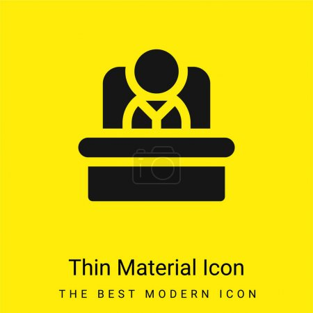 Illustration for Boss minimal bright yellow material icon - Royalty Free Image