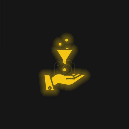 Ads yellow glowing neon icon