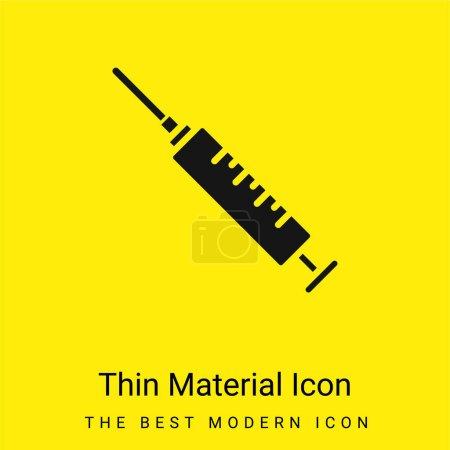 Illustration pour Anesthésie minime jaune vif icône matérielle - image libre de droit