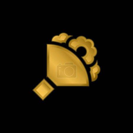 Illustration pour Bouquet icône métallique plaqué or ou logo vecteur - image libre de droit