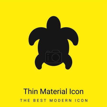 Big Turtle minimal bright yellow material icon