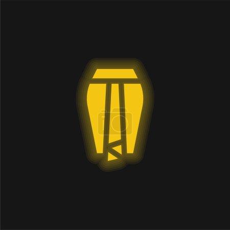 Illustration pour Jupe Batik jaune brillant icône néon - image libre de droit