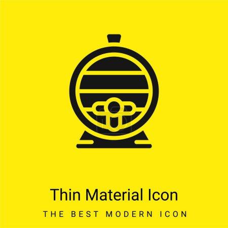 Illustration pour Baril minimal jaune vif icône matérielle - image libre de droit