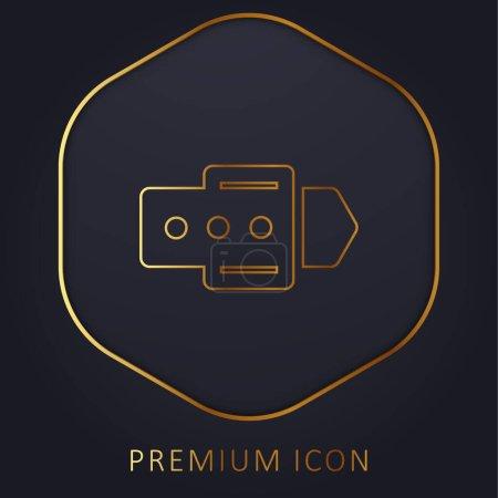 Illustration pour Ceinture Shopping Produit ligne dorée logo premium ou icône - image libre de droit