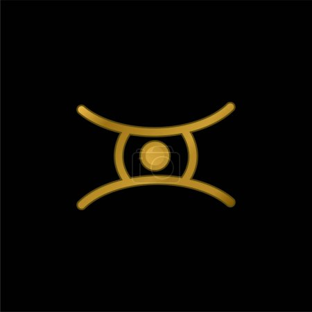 Photo for Animal Eye Shape gold plated metalic icon or logo vector - Royalty Free Image