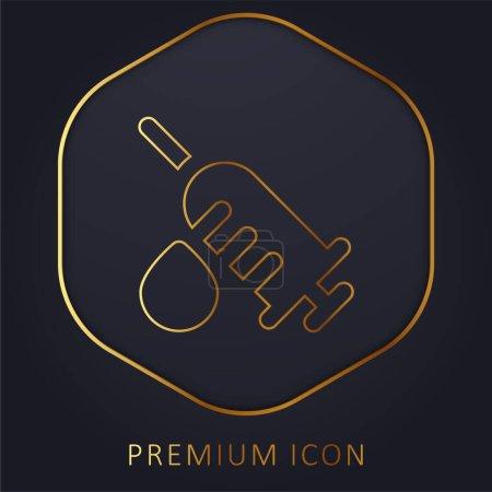 Photo for Analysis golden line premium logo or icon - Royalty Free Image