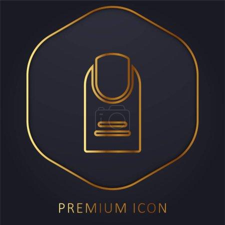 Illustration pour Big Finger ligne d'or logo premium ou icône - image libre de droit