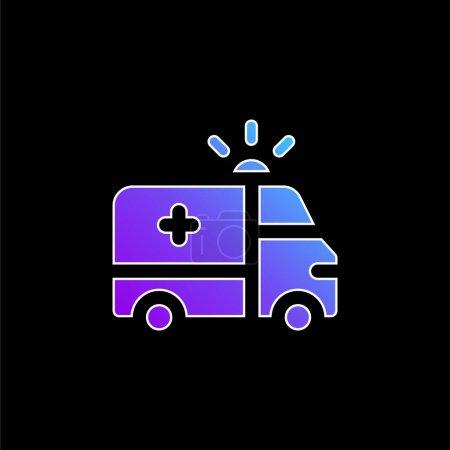 Illustration pour Icône vectorielle dégradé bleu Ambulance - image libre de droit
