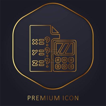 Illustration for Algebra golden line premium logo or icon - Royalty Free Image