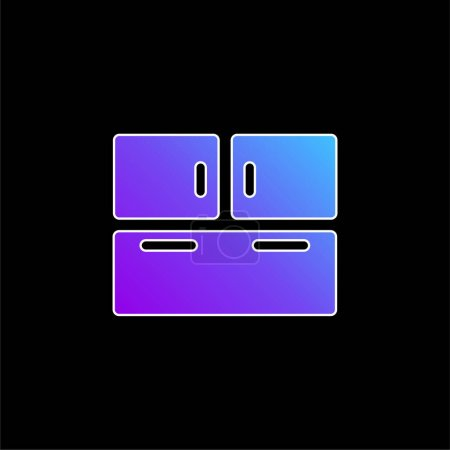 Illustration for Big Closet blue gradient vector icon - Royalty Free Image