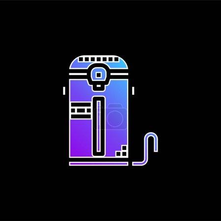 Photo pour Icône vectorielle dégradé bleu chaudière - image libre de droit