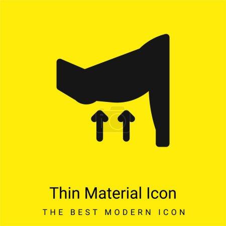 Photo pour Bras minimal jaune vif icône matérielle - image libre de droit