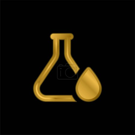 Photo for Blood Drop gold plated metalic icon or logo vector - Royalty Free Image