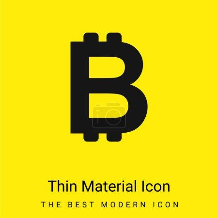 Illustration pour Symbole Bitcoin minime icône matérielle jaune vif - image libre de droit