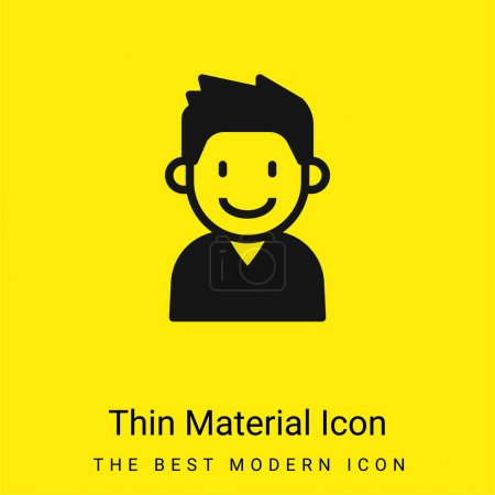 Boy minimal bright yellow material icon