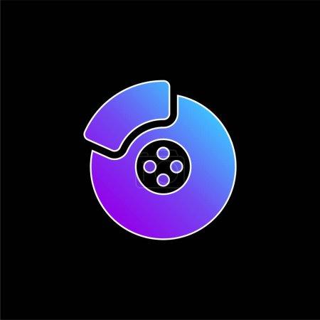 Illustration pour Icône vectorielle dégradée bleu frein - image libre de droit