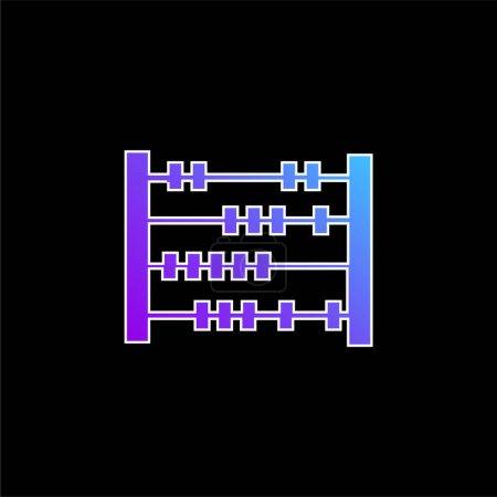 Photo pour Icône vectorielle de dégradé bleu Abacus - image libre de droit
