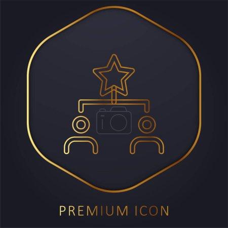 Illustration pour Meilleure ligne d'or logo premium ou icône - image libre de droit