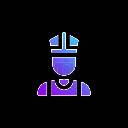 Photo for Bishop blue gradient vector icon - Royalty Free Image