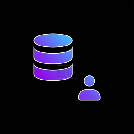 Illustration pour Icône vectorielle de dégradé bleu administrateur - image libre de droit