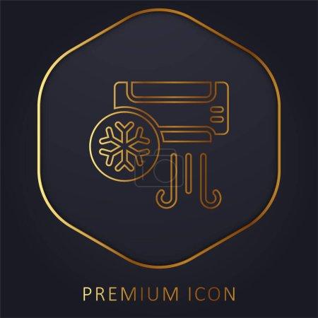 Illustration pour Climatiseur ligne dorée logo premium ou icône - image libre de droit