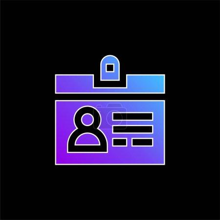 Illustration pour Accréditation icône vectorielle dégradé bleu - image libre de droit
