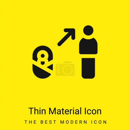 Illustration for Benefit minimal bright yellow material icon - Royalty Free Image