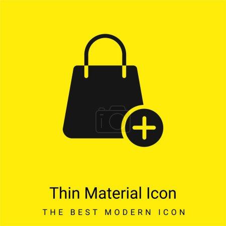 Photo pour Sac minime icône matériau jaune vif - image libre de droit