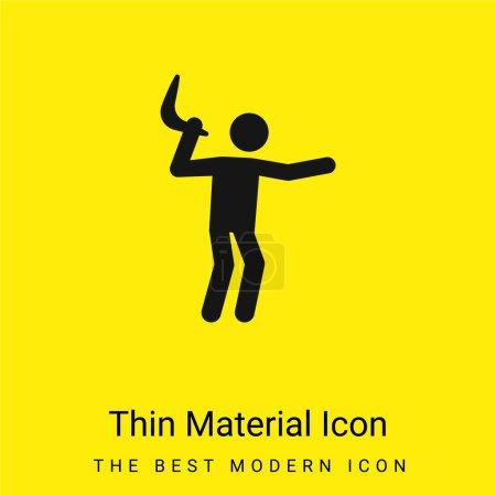 Photo pour Boomerang minime icône matérielle jaune vif - image libre de droit