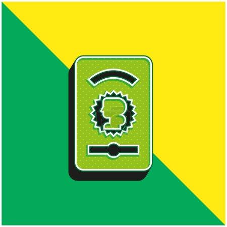 Illustration pour Ace Of Gold Logo vectoriel 3D moderne vert et jaune - image libre de droit