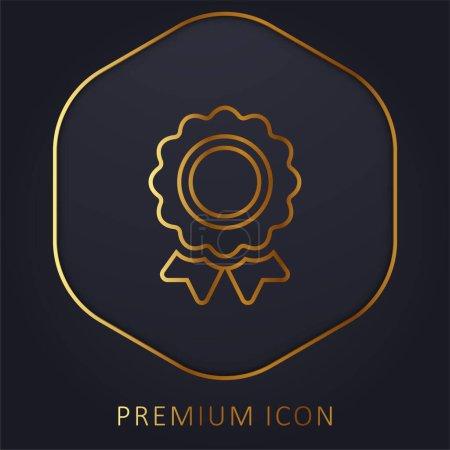 Illustration pour Récompense ligne d'or logo premium ou icône - image libre de droit