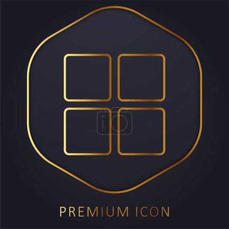 Bloque la ligne d'or logo premium ou icône