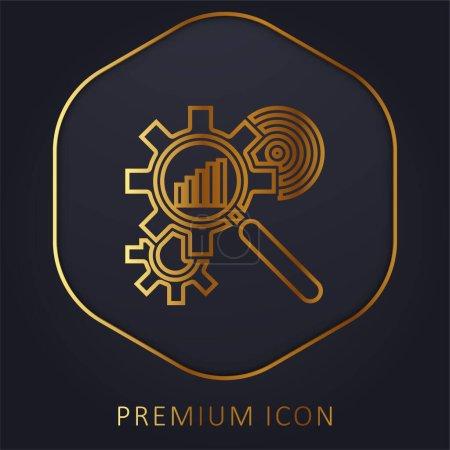 Photo pour Analyse ligne d'or logo premium ou icône - image libre de droit