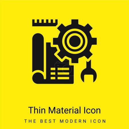 Illustration pour Blueprint minime icône matériau jaune vif - image libre de droit