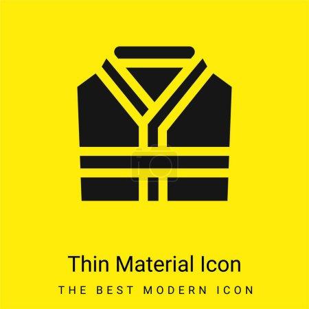 Photo pour Peignoir minimaliste jaune vif icône matérielle - image libre de droit