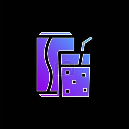 Photo pour Icône vectorielle de dégradé bleu boisson - image libre de droit