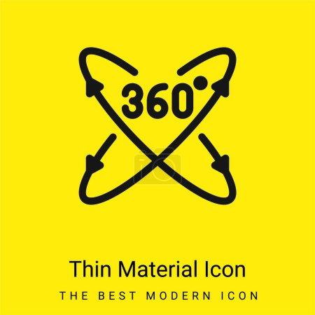 360 Grad minimales hellgelbes Materialsymbol