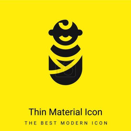 Baby minimal leuchtend gelbes Material Symbol